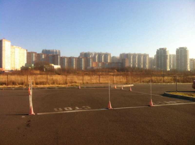 Площадка для вождения на щелковской