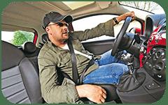 посадка за рулём автомобиля